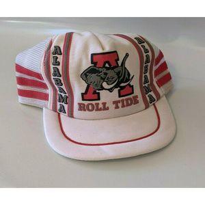 Alabama Roll Tide Truckers Hat 3 Stripe Crimson